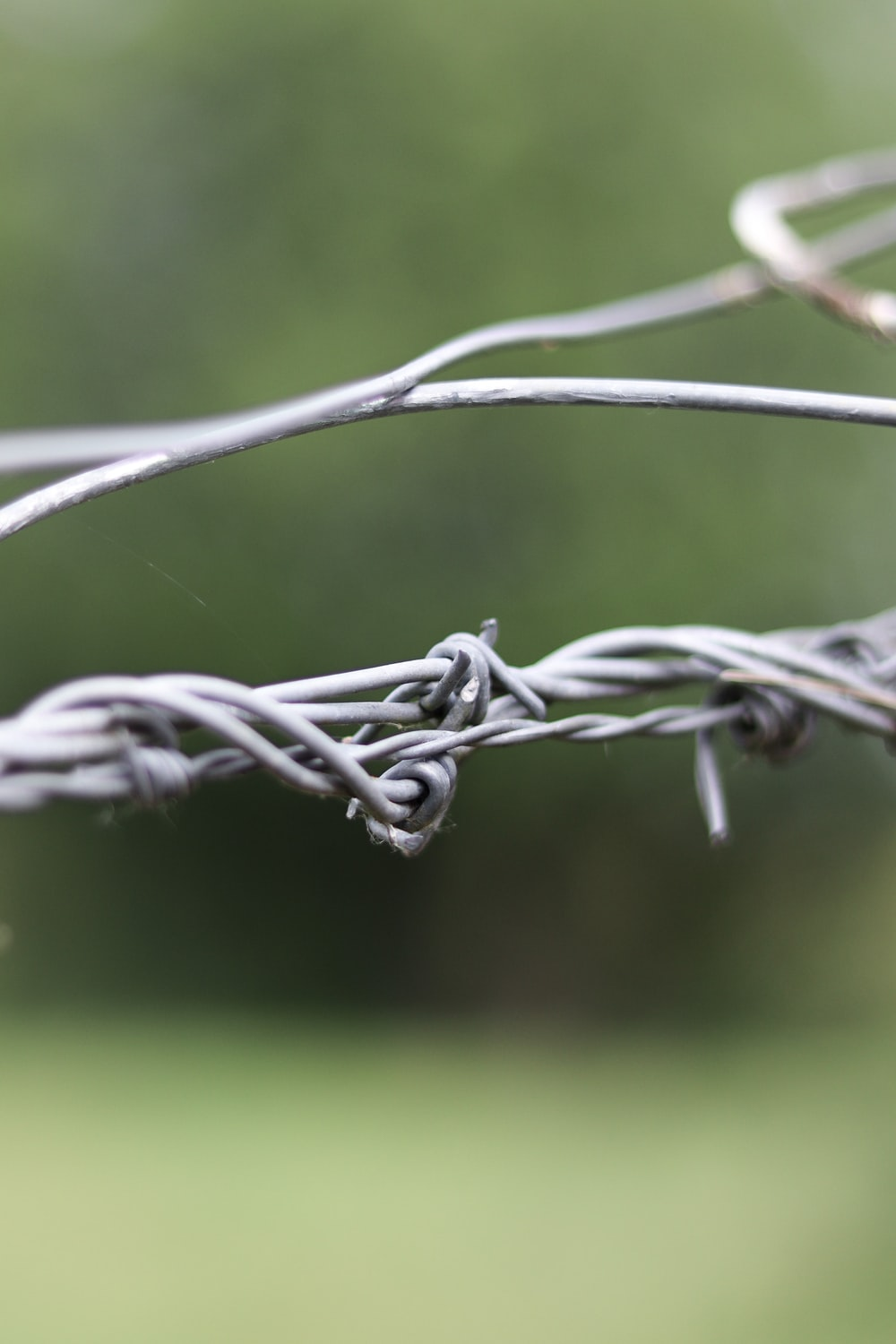 white and gray metal wire