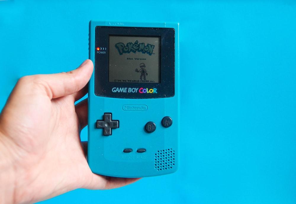 blue and black digital device