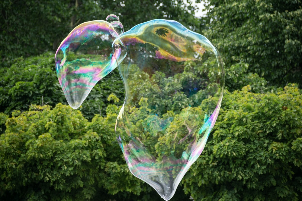 bubble on mid air during daytime