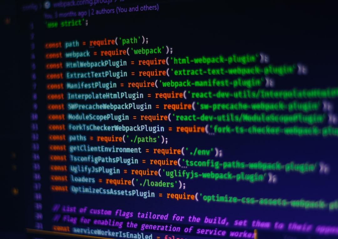 Webpack code example