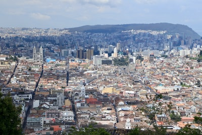 aerial view of city during daytime ecuador zoom background