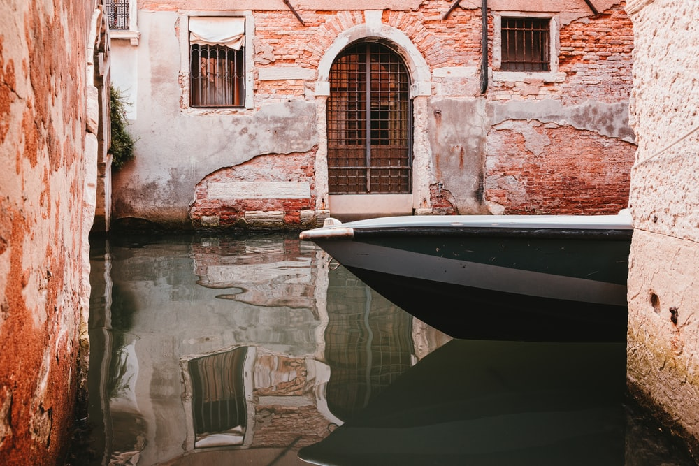 white and black boat on water