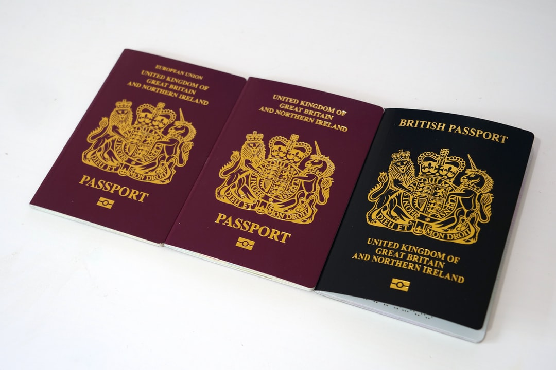 Old, transition and new UK passport