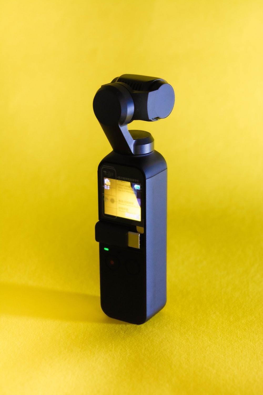 black and gray digital camera