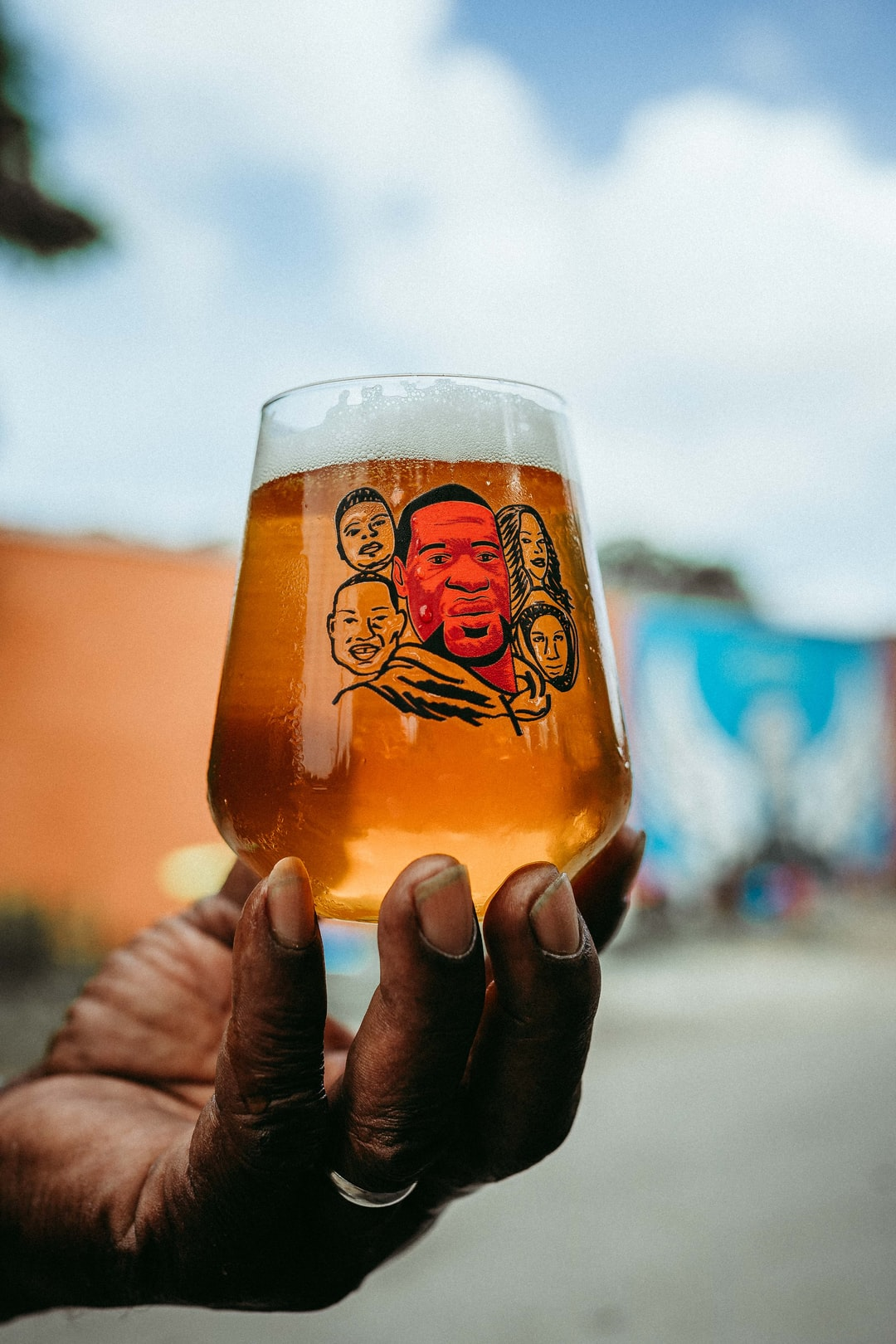 Mr. David Holding up Beer Chronicle's George Floyd glass. All profits and proceeds were donated to Floyd's family. Over $4000 was donated. My Instagram: https://www.instagram.com/josh_olalde/  link to purchase glas: https://houstonbeer.af/collections/frontpage/products/george-floyd-stemless-teku  Editorial Article on Black Is Beautiful http://beerchronicle.com/weathered-souls-black-is-beautiful-beer-collaboration/  Blog Beer Chronicle: http://beerchronicle.com/  Nicky Davis website: https://nickydavis.com