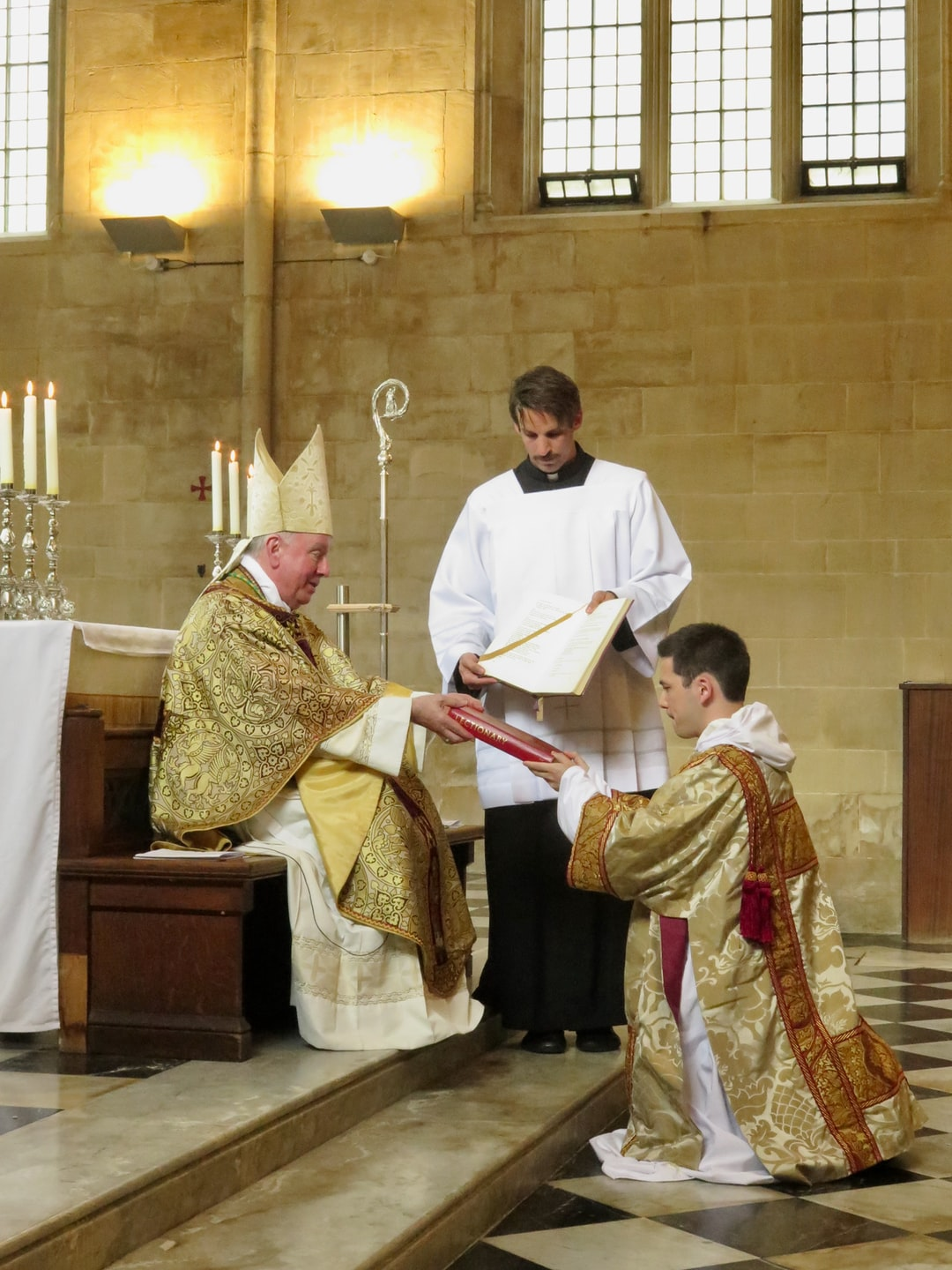 """""""Receive the Gospel of Christ whose herald you have become. Believe what you read, teach what you believe, and practice what you teach."""", Bishop says to the new deacon.  Blackfriars, the Oxford house of the worldwide Dominican Order: Ordination of Brother Joseph (Shaun) Bailham O.P. to the diaconate by Bishop Philip Egan on Saturday 4 July 2020, the memoria of Blessed Pier Giorgio Frassati, to whom Brother Joseph has a devotion."""