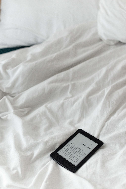 black box on white textile