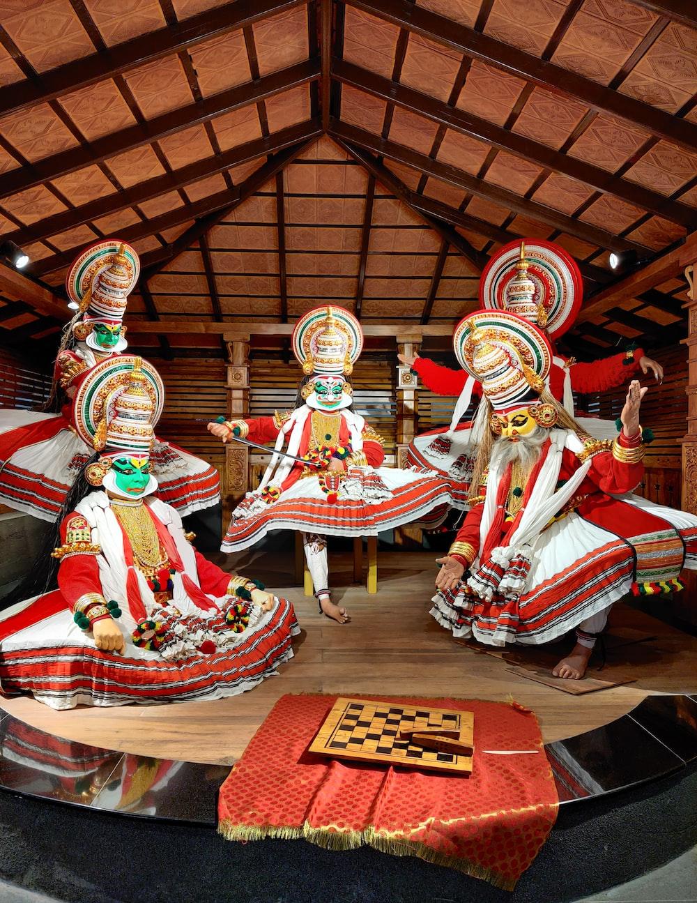 hindu deity figurine on red table