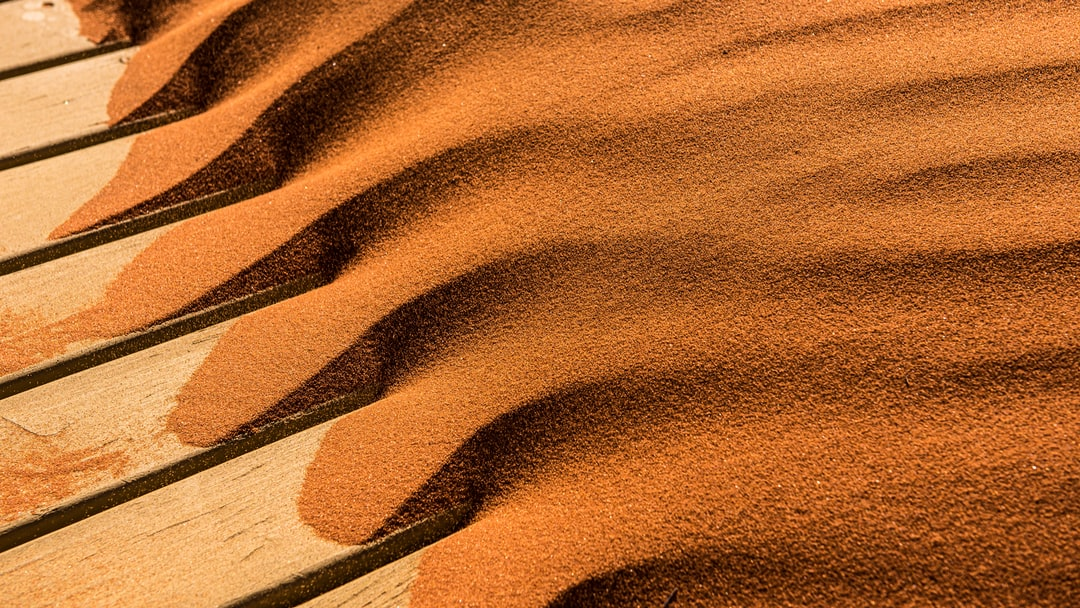 Brown desert sand formed by the wind
