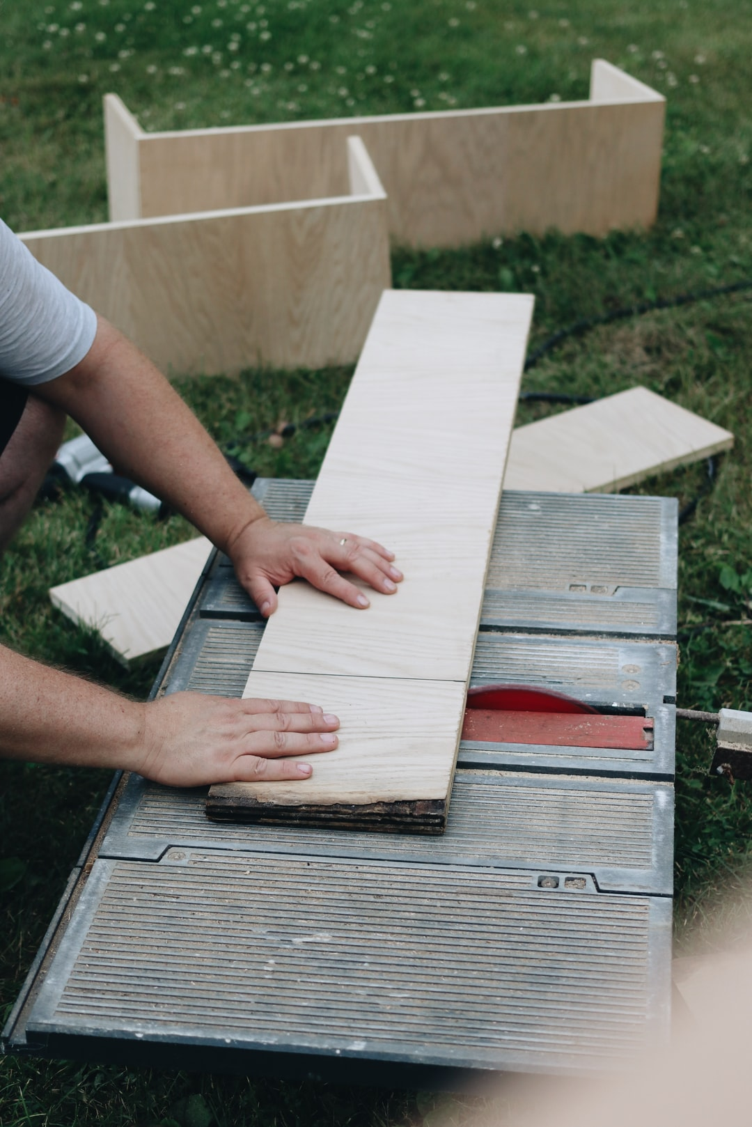 Man using a table saw