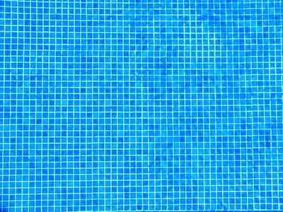 Detail of pool bottom. Blue square pattern