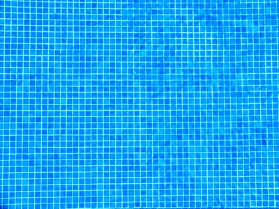 Detail of pool bottom. Blue square pattern