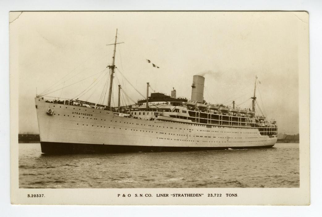 An old ship photo
