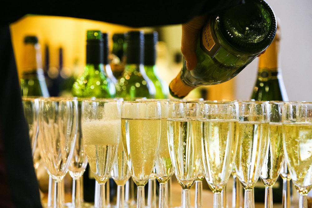 clear wine glasses on table circuito monaco montecarlo ferrari fairmont hotel lusso champagne vip