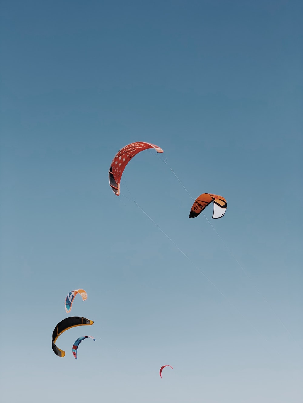 people in parachute under blue sky during daytime