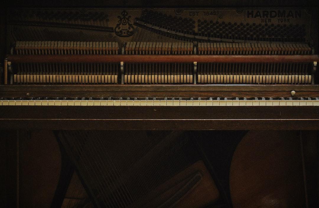 My Grandma's Vintage Upright Piano