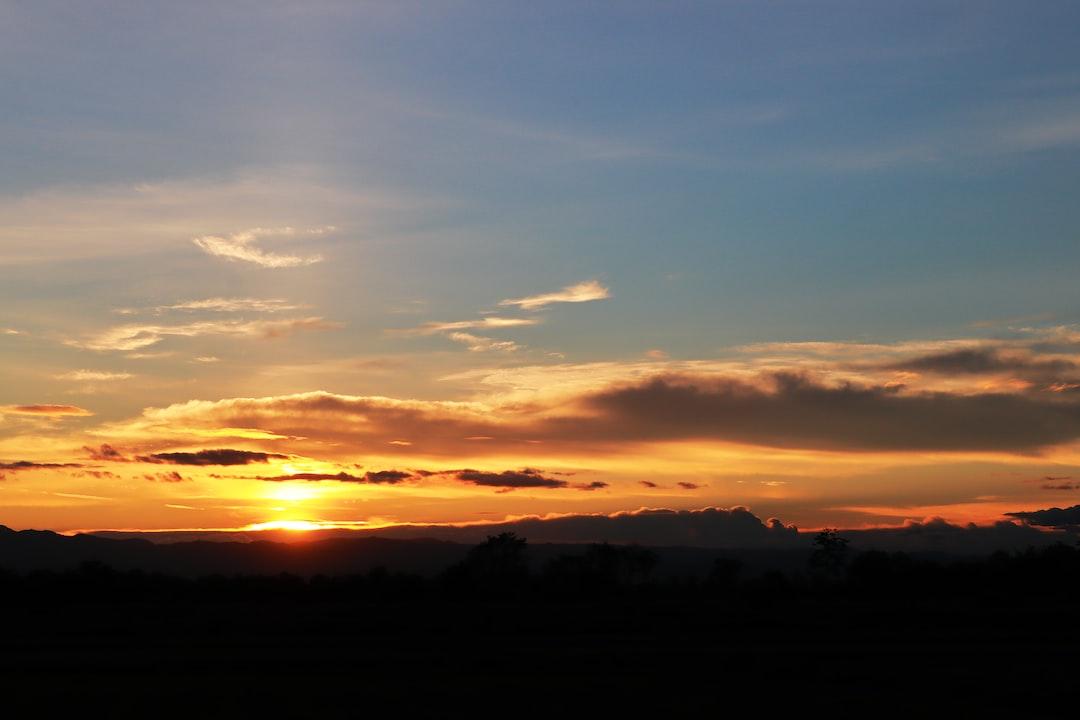 Beautiful Sunset Sky in Evening.