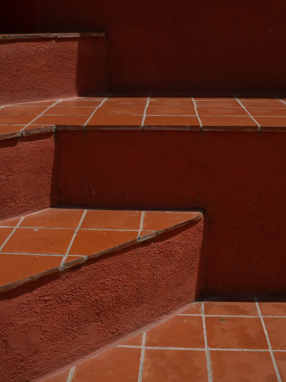 brown and white concrete staircase