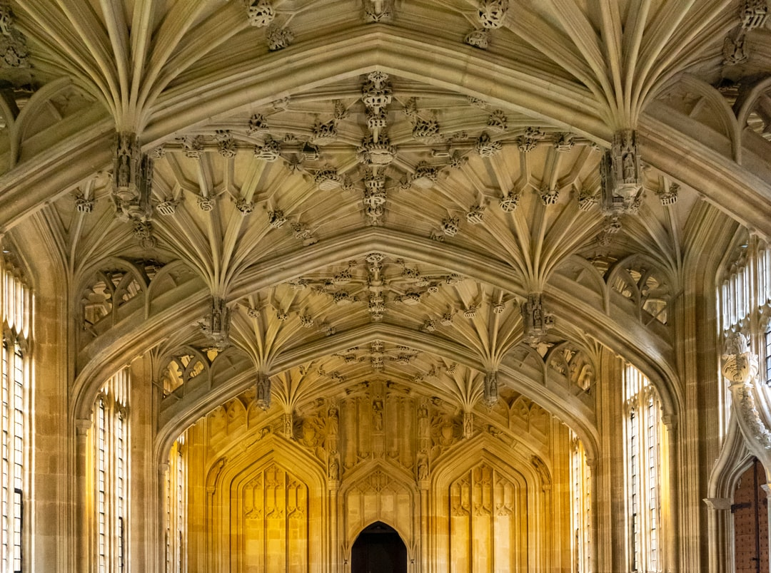 Divinty School Hall in Bodleian Library, Oxford, UK.