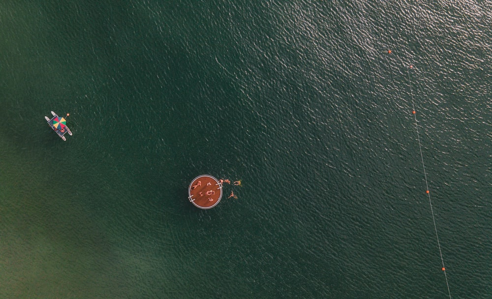 orange and black round ornament