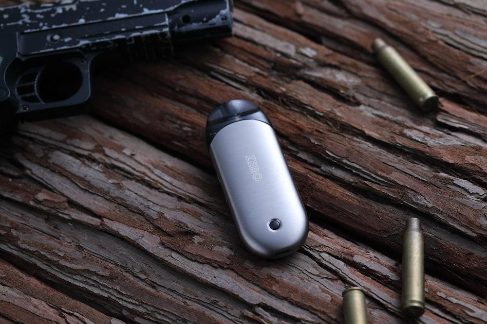 gray and black remote control