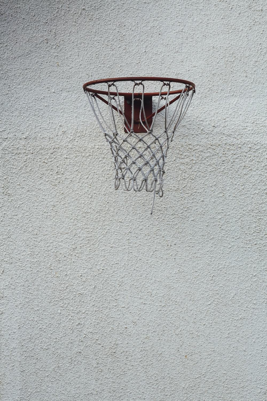 black and red basketball hoop