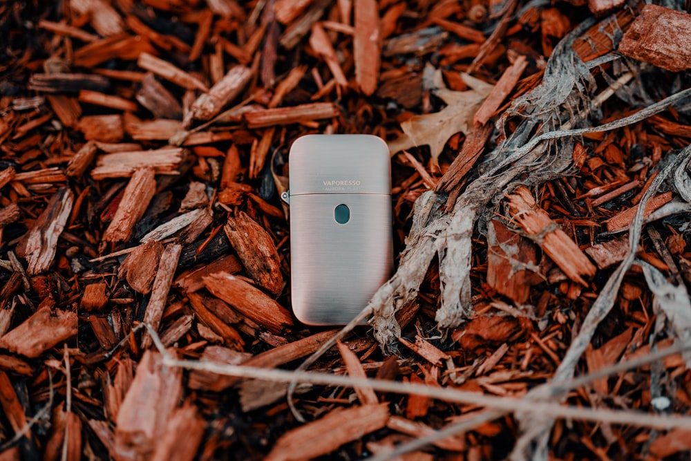 white samsung android smartphone on brown dried leaves