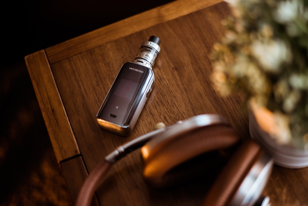 black box mod on brown wooden table