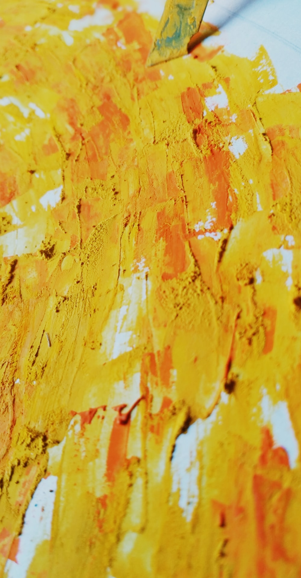 yellow and white abstract painting
