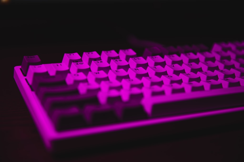 purple and black computer keyboard