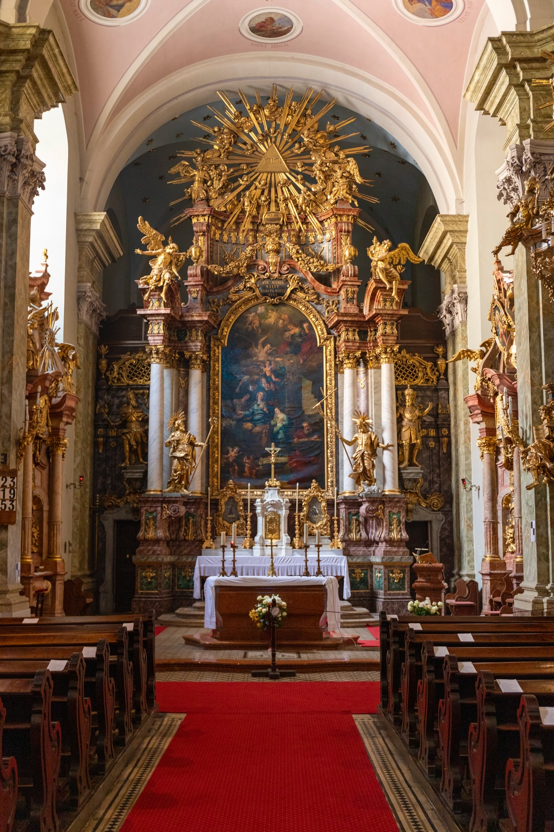 Picture of the altar of St. Anne Church in Budapest.