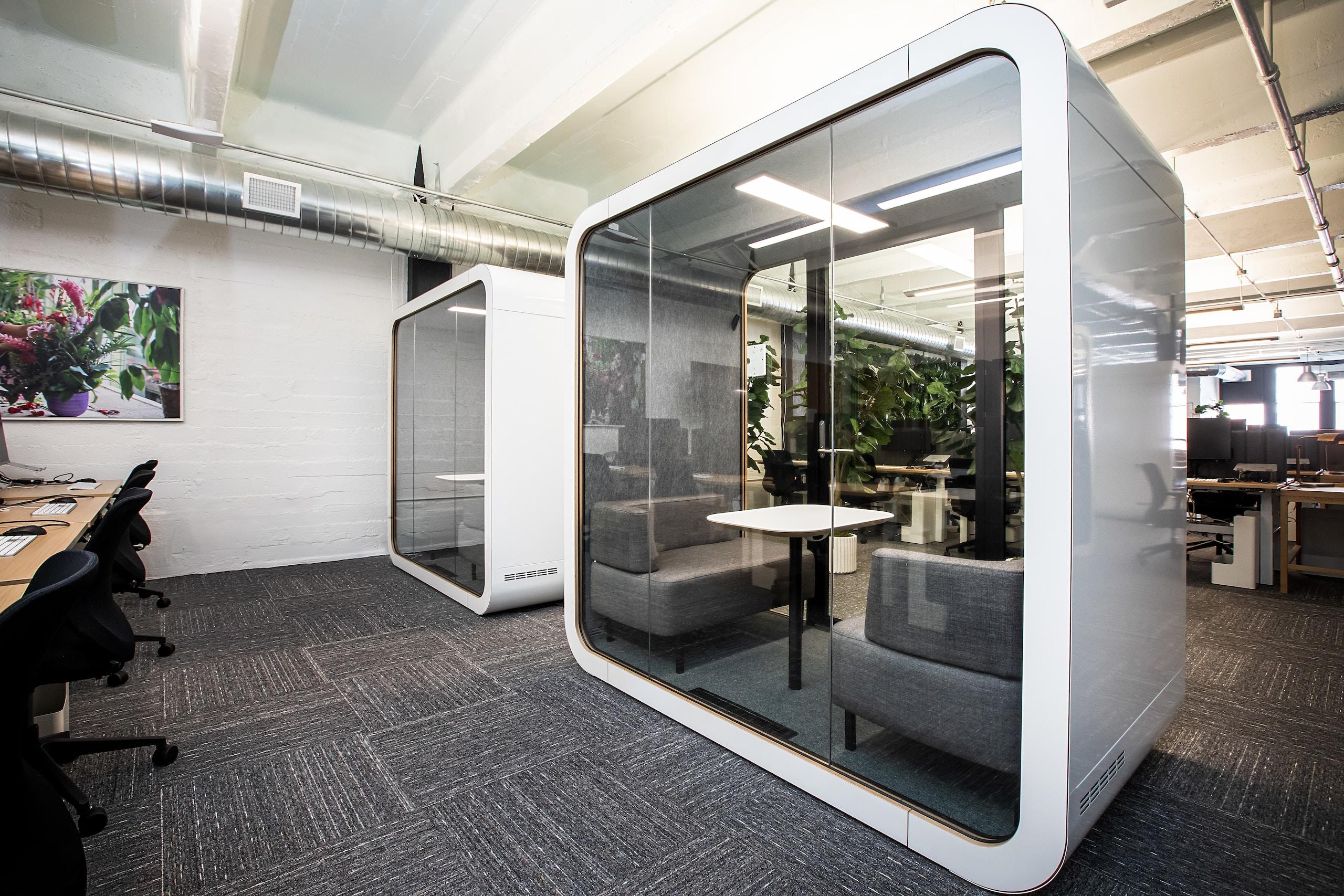 white metal framed glass door