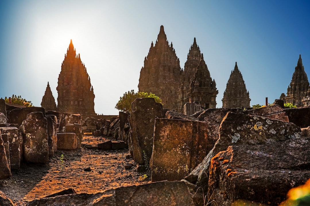 Afternoon sun around Candi Prambanan