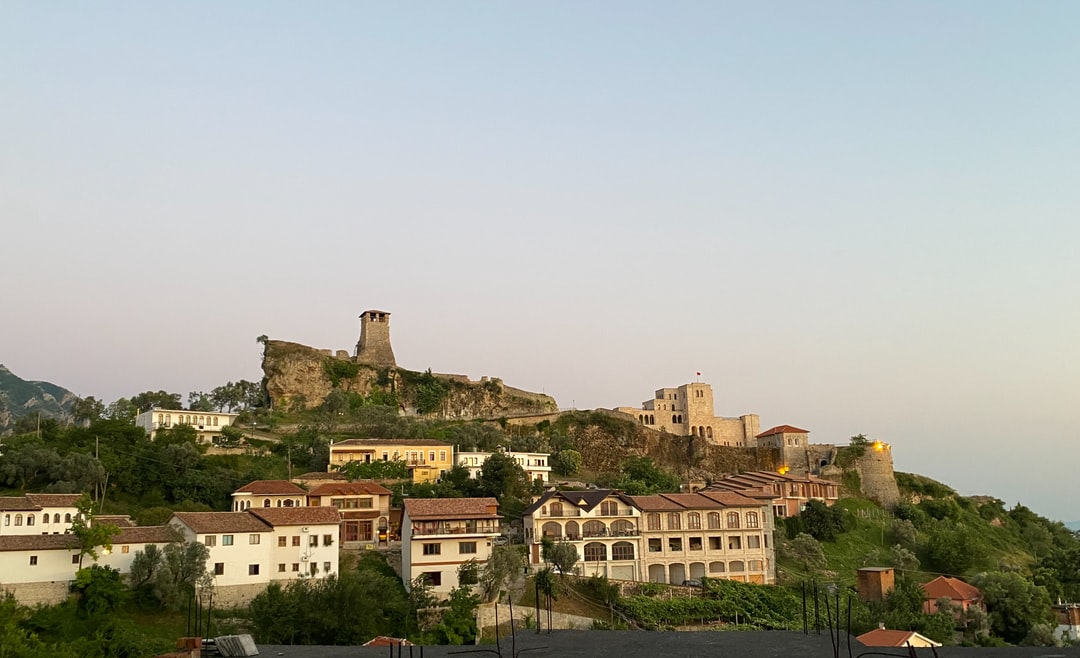 The castle of Kruja. Albania