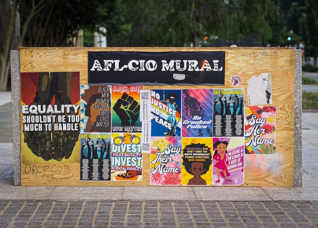 A poster installation on Black Lives Matter Blvd in Washington DC