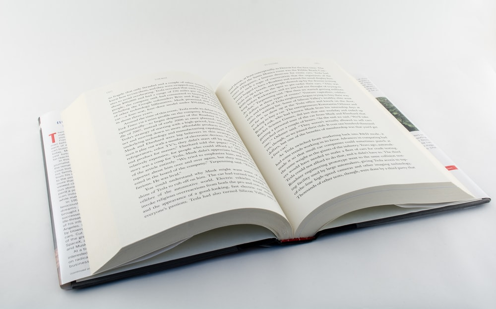 white book page on white table