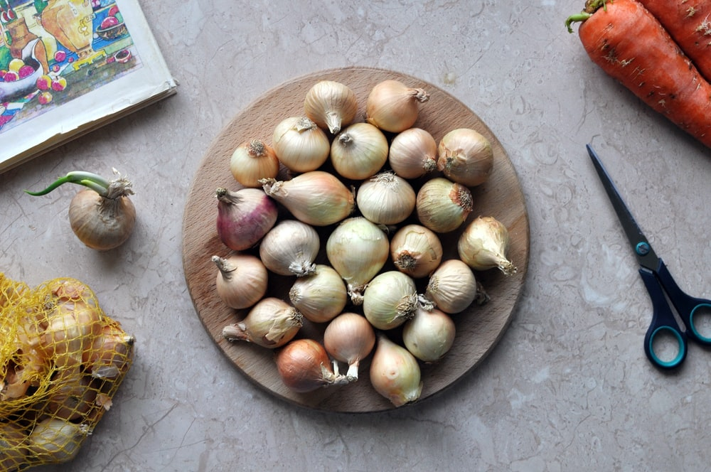 brown round fruit on brown round bowl