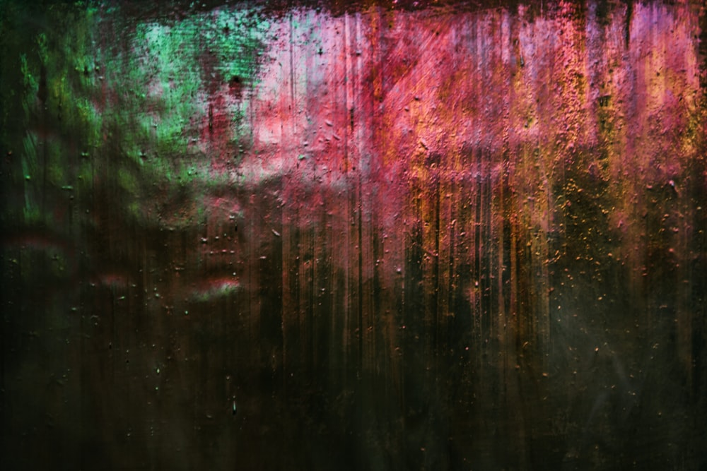 green red and black abstract painting