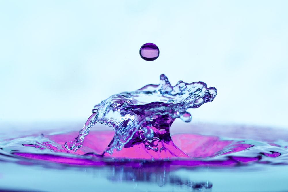 purple and white water drop
