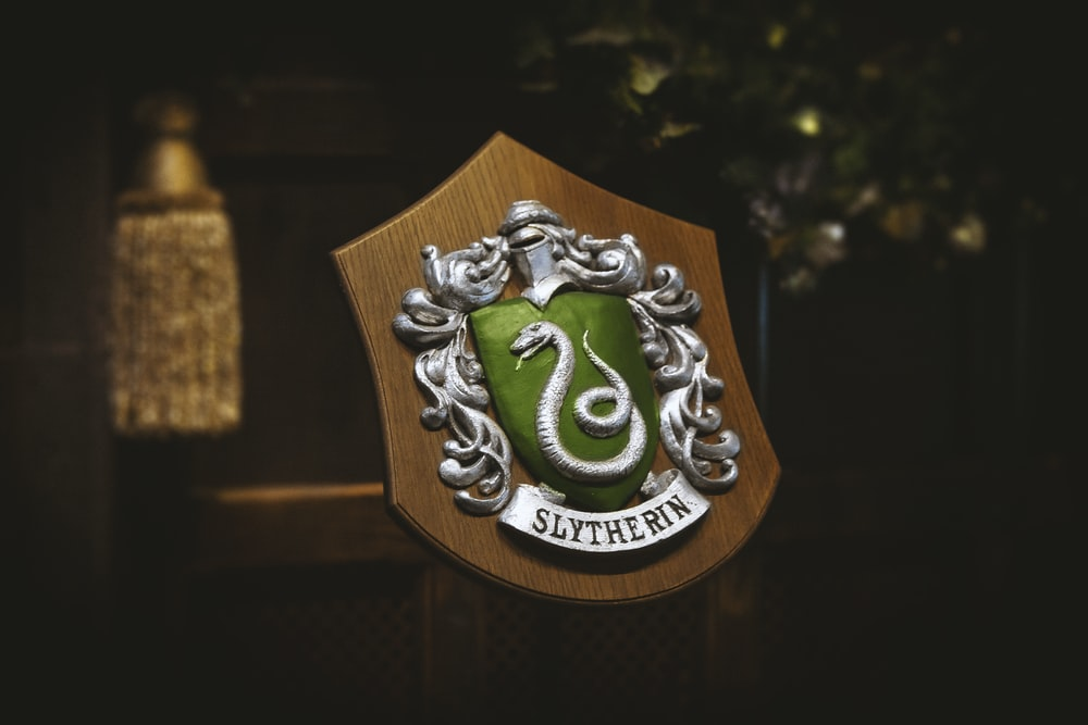 silver and green snake logo