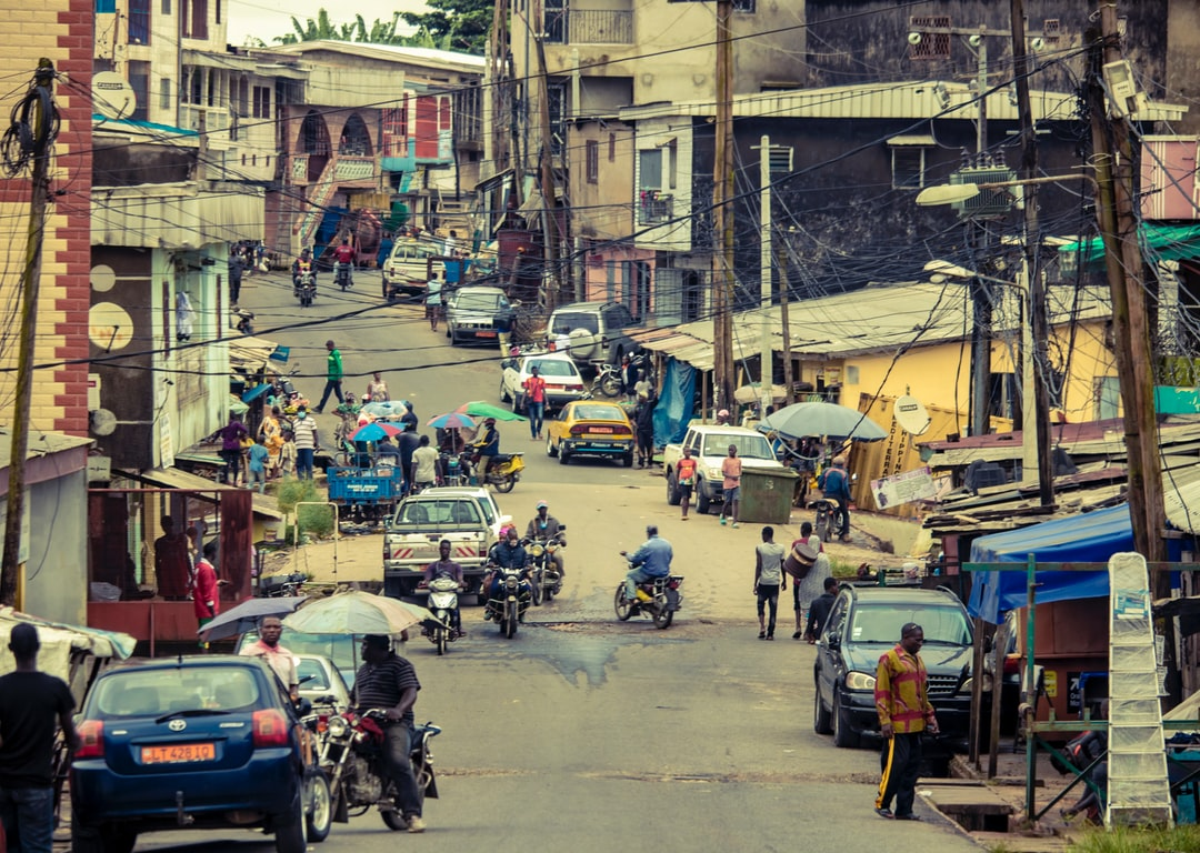 Scene of life in a street of Douala...
