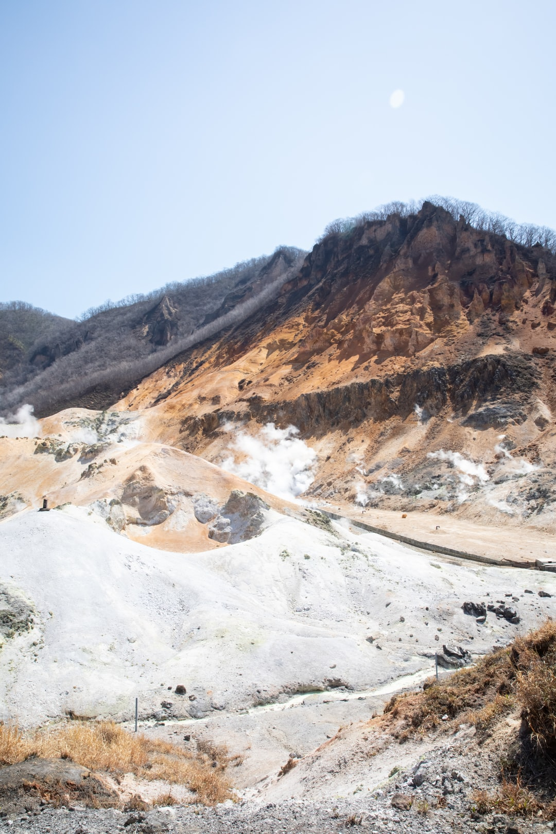 Jigokudani - hell valley - noboribetsu - volcanism hot spring - Hokkaido - Japan