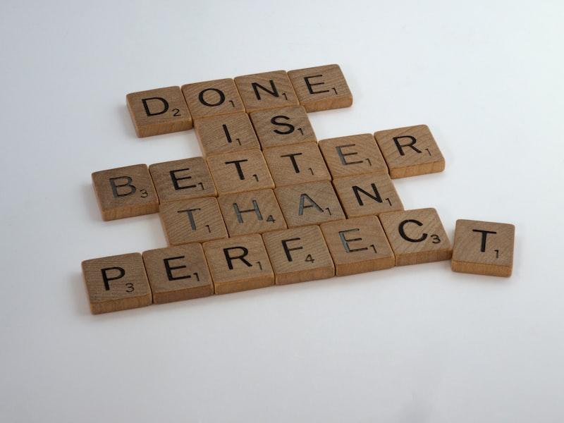 承認吧,大多時候完美主義都是缺點