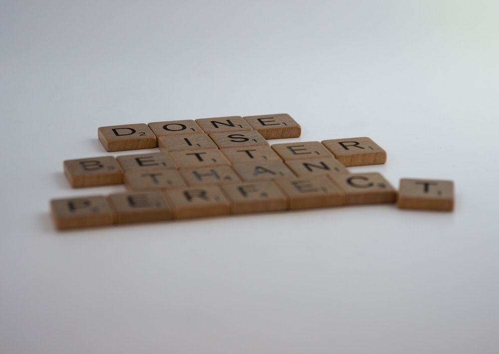 brown wooden blocks on white table