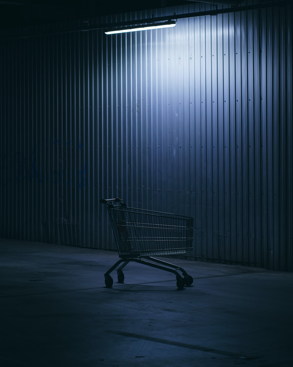 shopping cart in a room