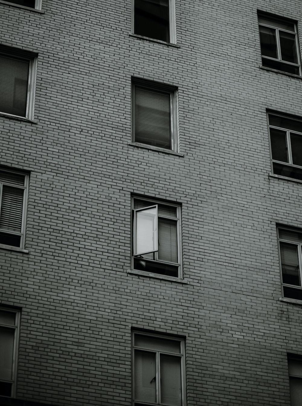 gray concrete building with windows
