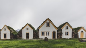 white and brown house on green grass field