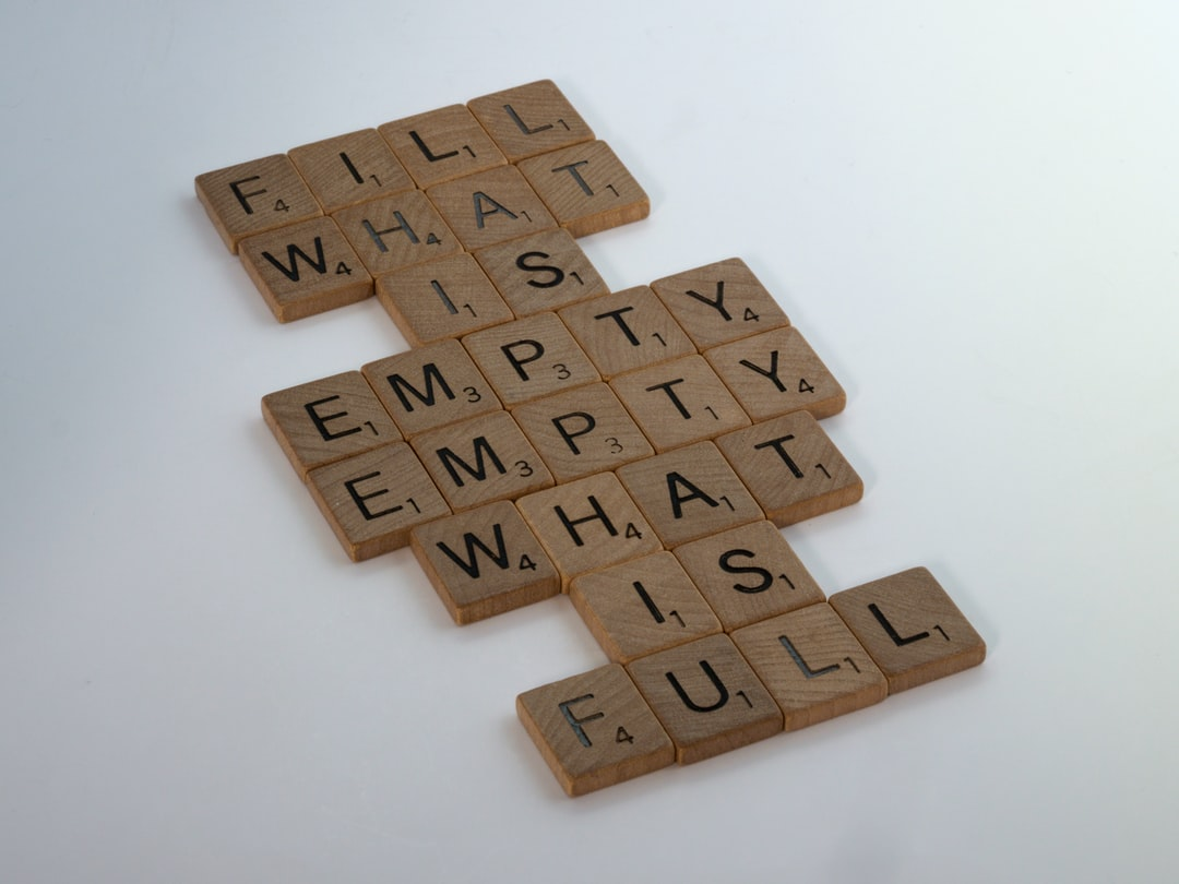 scrabble, scrabble pieces, lettering, letters, white background, wood, scrabble tiles, wood, words, fill what is empty, empty what is full, life, routine, chores, real life, circle of life,