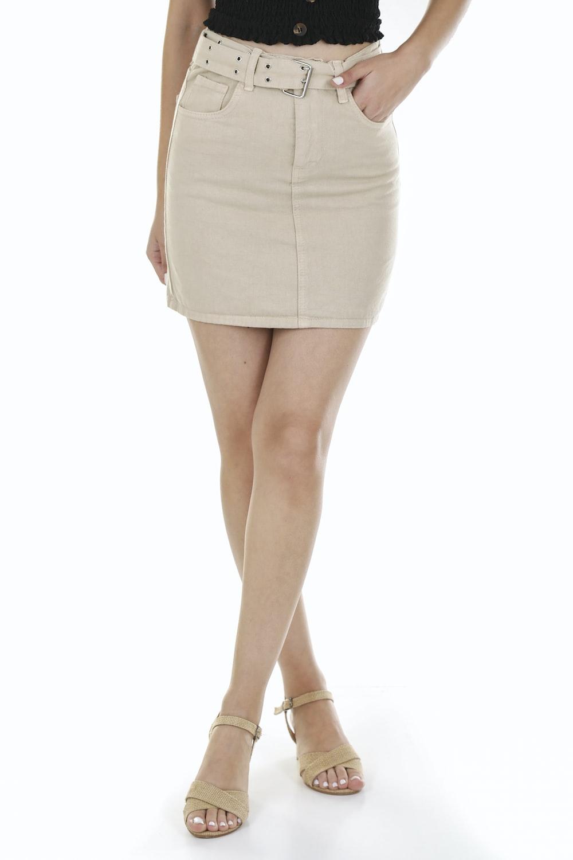woman in white mini skirt