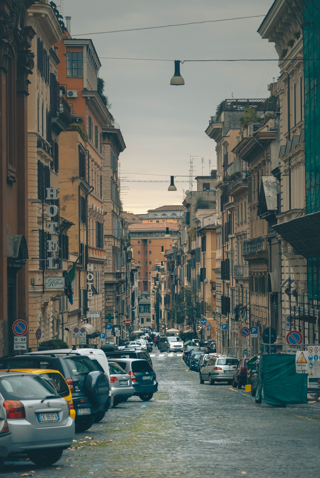 It's a small street in Rome. Somewhere in the Coliseum area.